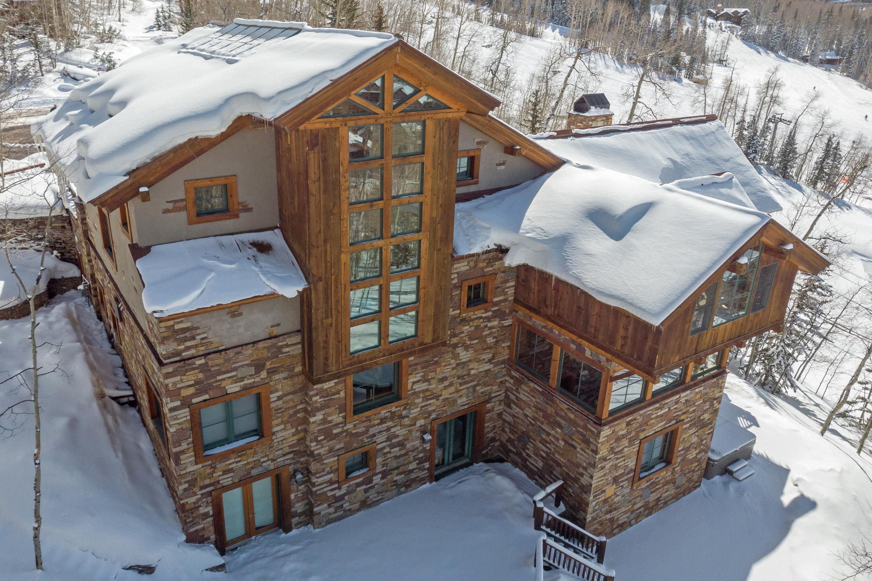Lovely, Ski-In/Out, Mountain View Home with Steam Room & Hot Tub
