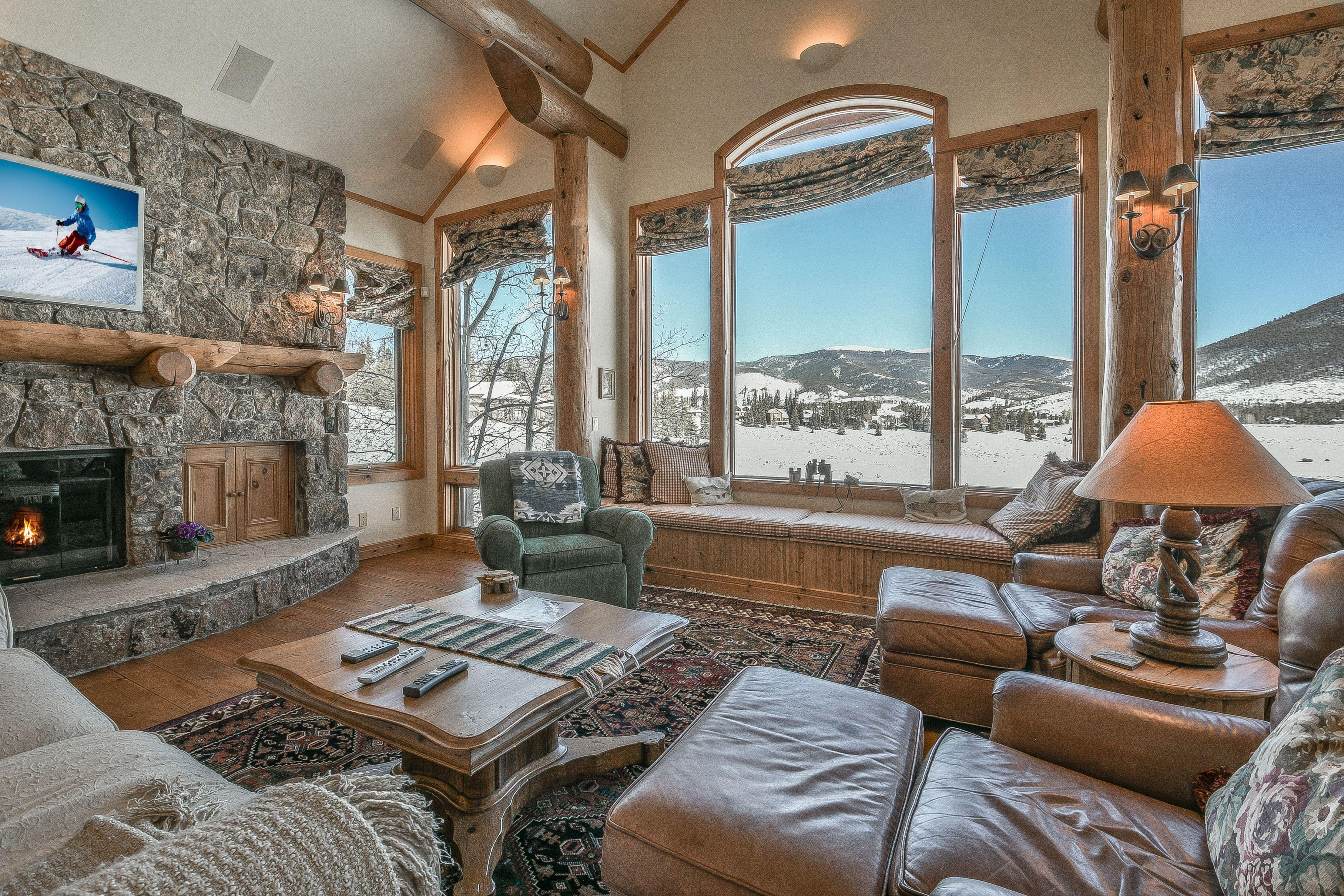 Updated Custom Log Home is the Perfect Mountain Getaway