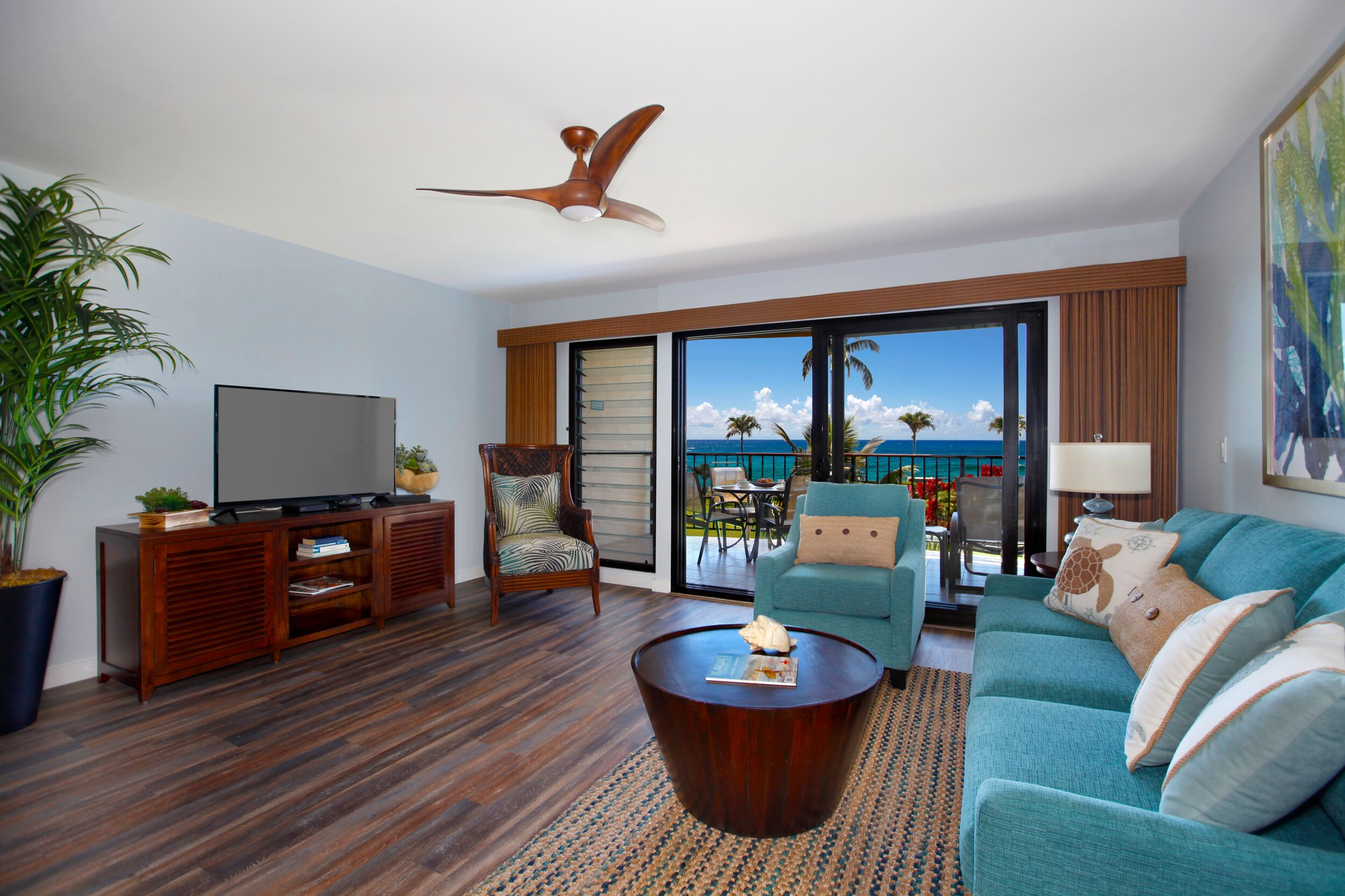 Modern Condo with Unobstructed Oceanviews of Lawai Beach