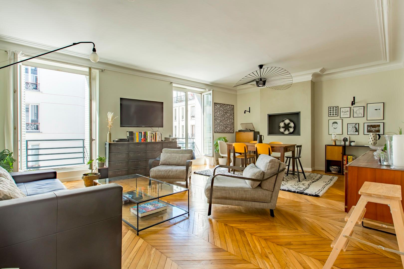 Property Image 1 - Chic Parisian Apartment in the 11th with an Arty Twist