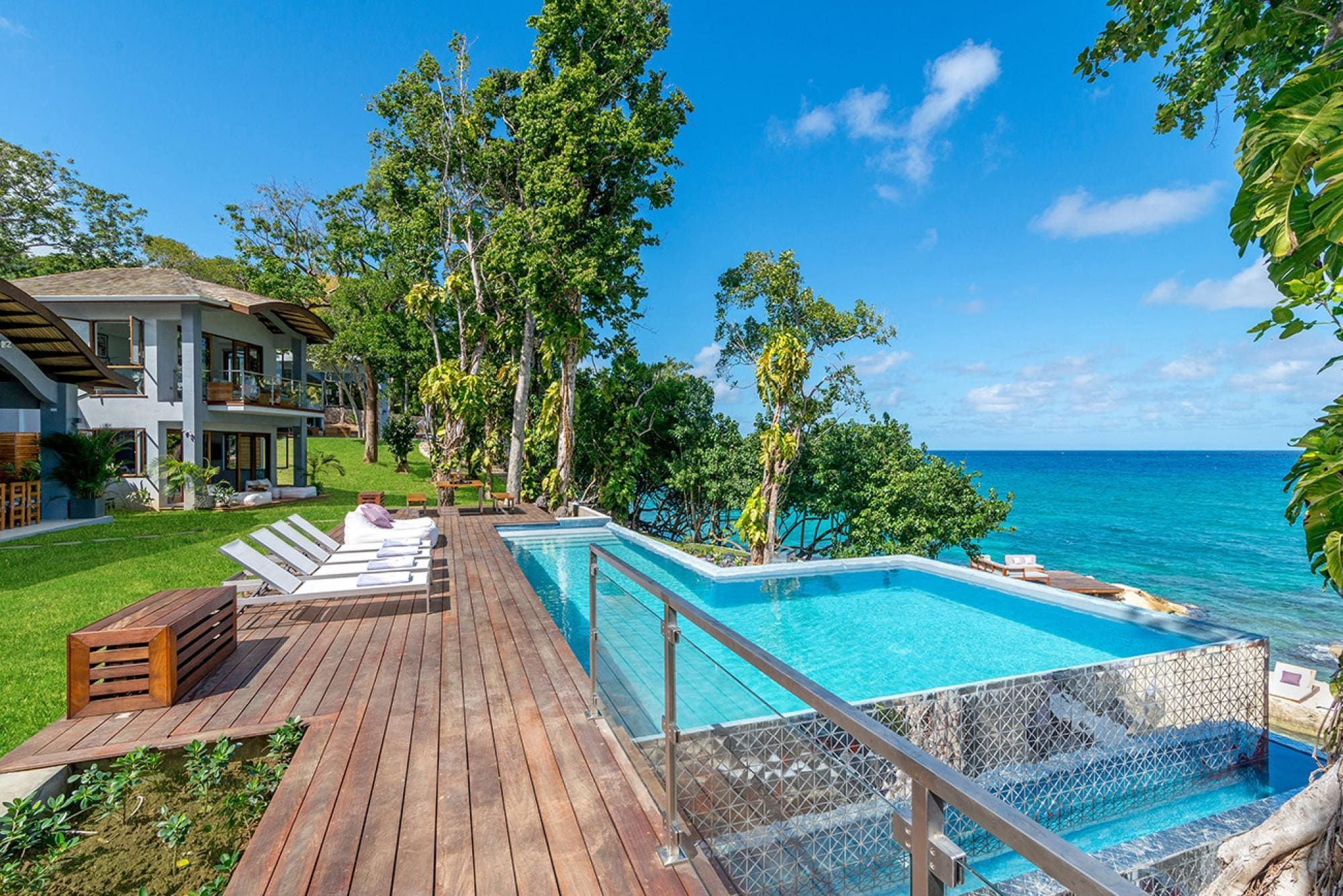 Side-by-Side Beachfront Villas With Caribbean Sea Views
