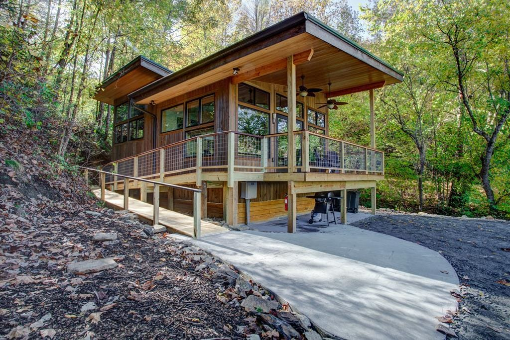 Stunning Riverside Home with Private Porch and Large Private River Deck
